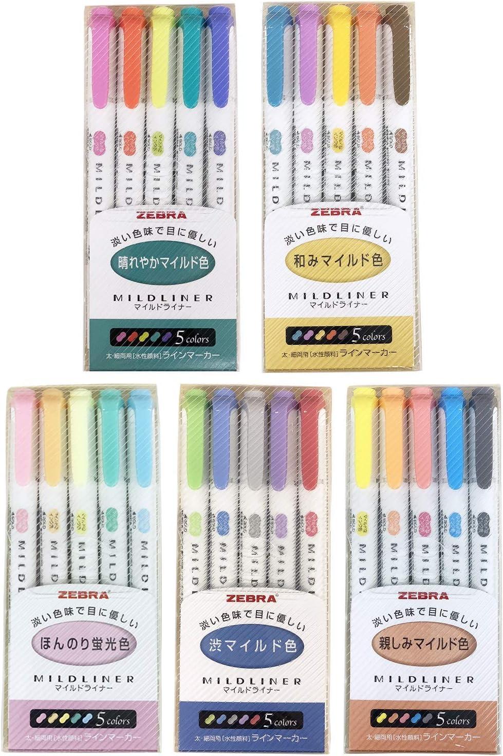 25 Marcadores Zebra Mildliner Colores Pastel