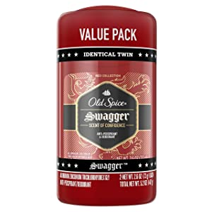 Old Spice Red Zone Collection Invisible Solid Men's Antiperspirant and Deodorant, Swagger Scent - 2.6 Oz Ea, 2 Count