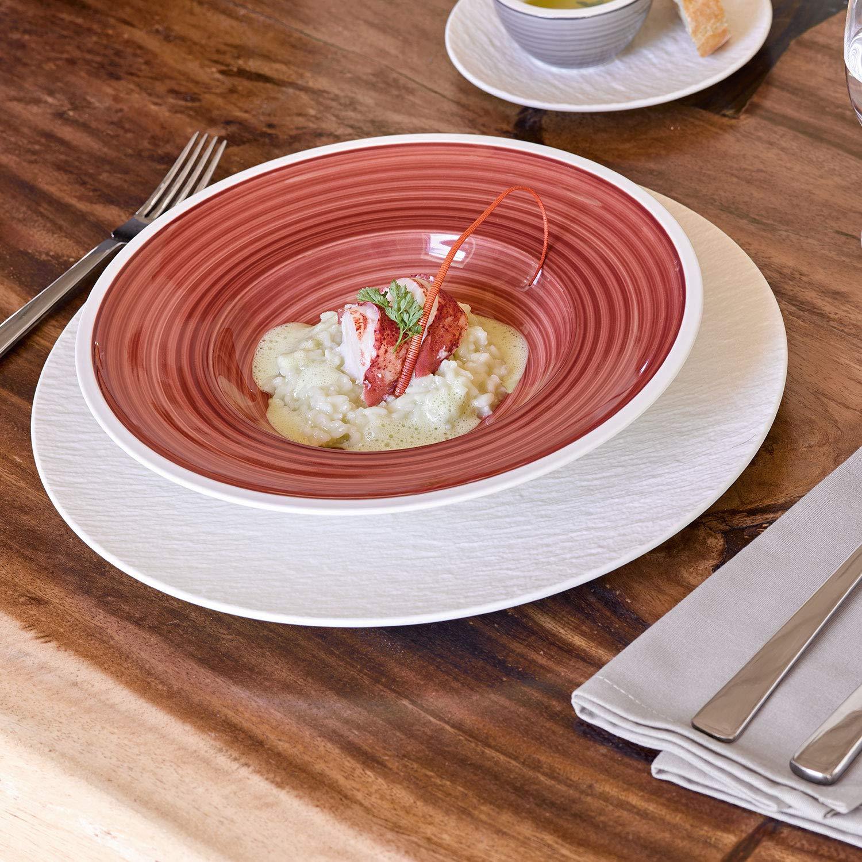 Villeroy /& Boch Manufacture Rock Pastateller 29 cm Premium Porzellan Schwarz