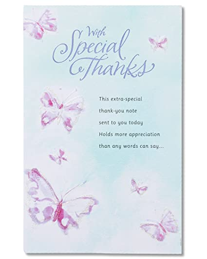 Amazon Com American Greetings Special Thanks Thank You Card With