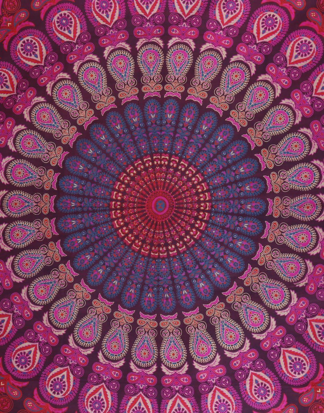 59 x 51 Indian Elephant tapiz de pared Tapiz para colgar en la pared de Shanna impreso para sala de estar y dormitorio decoraci/ón