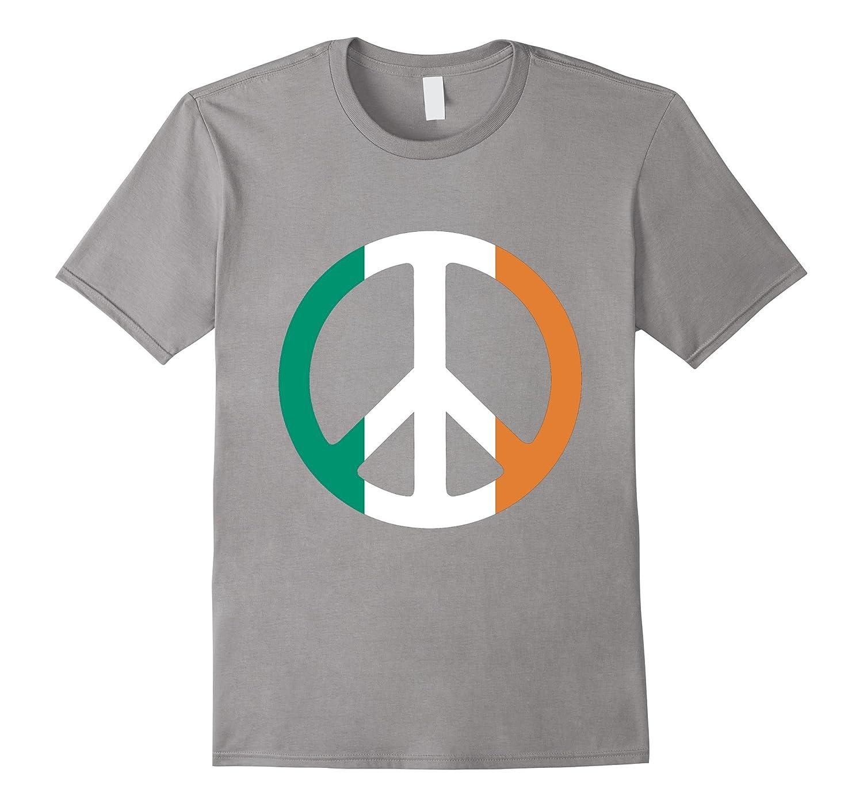 Flag of Ireland Green White and Gold Peace Symbol T-shirt-Vaci