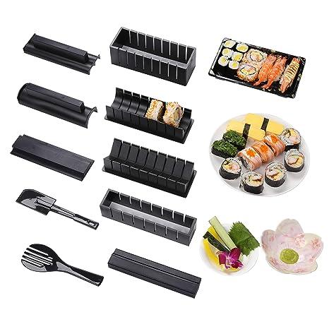 Sushi Maker Kit 10pcs 5 Formas únicas De Kit Para Hacer Sushi Molde Inicio Hacer Sushi Kit Sushi Kit Del Fabricante Fácil Y Divertido Diy Set De Sushi