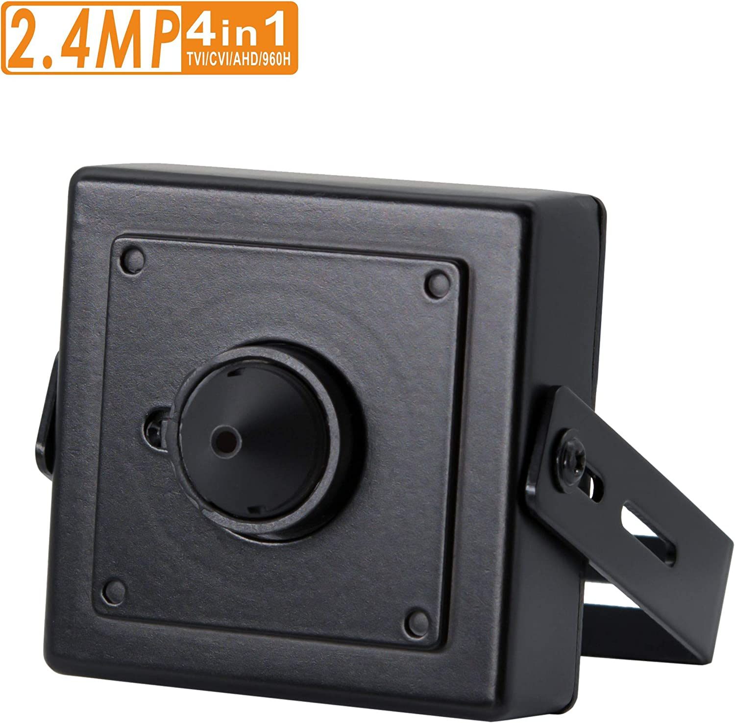2.4MP Pinhole CCTV Camera, 3.7mm Pinhole Mini Lens, HD TVI CVI AHD 960H Output, Hidden Spy CCTV Surveillance Security System-Switchable Output