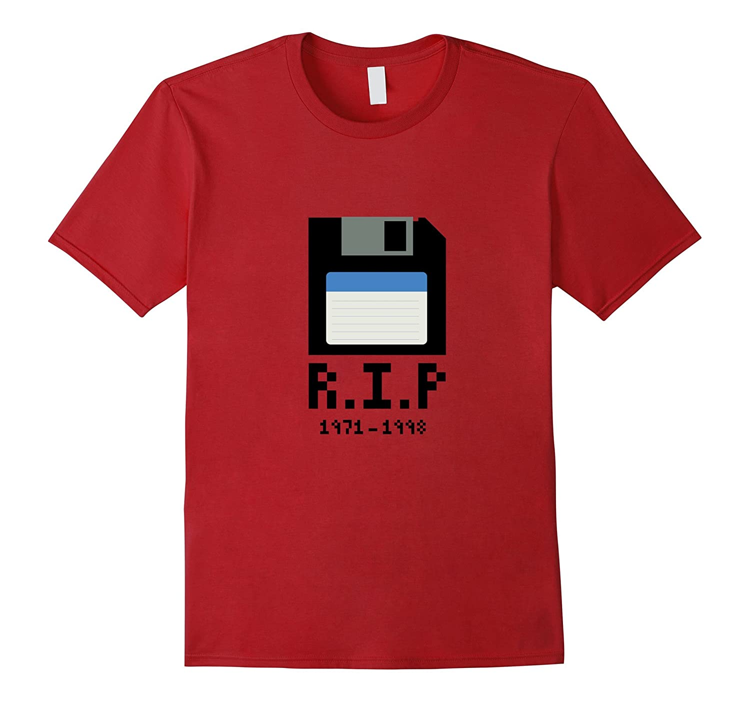RIP Floppy Disk T-Shirt – Never Forget Vintage Geeky 80s Tee