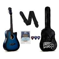 Intern INT-38C Acoustic Guitar Kit, Blue