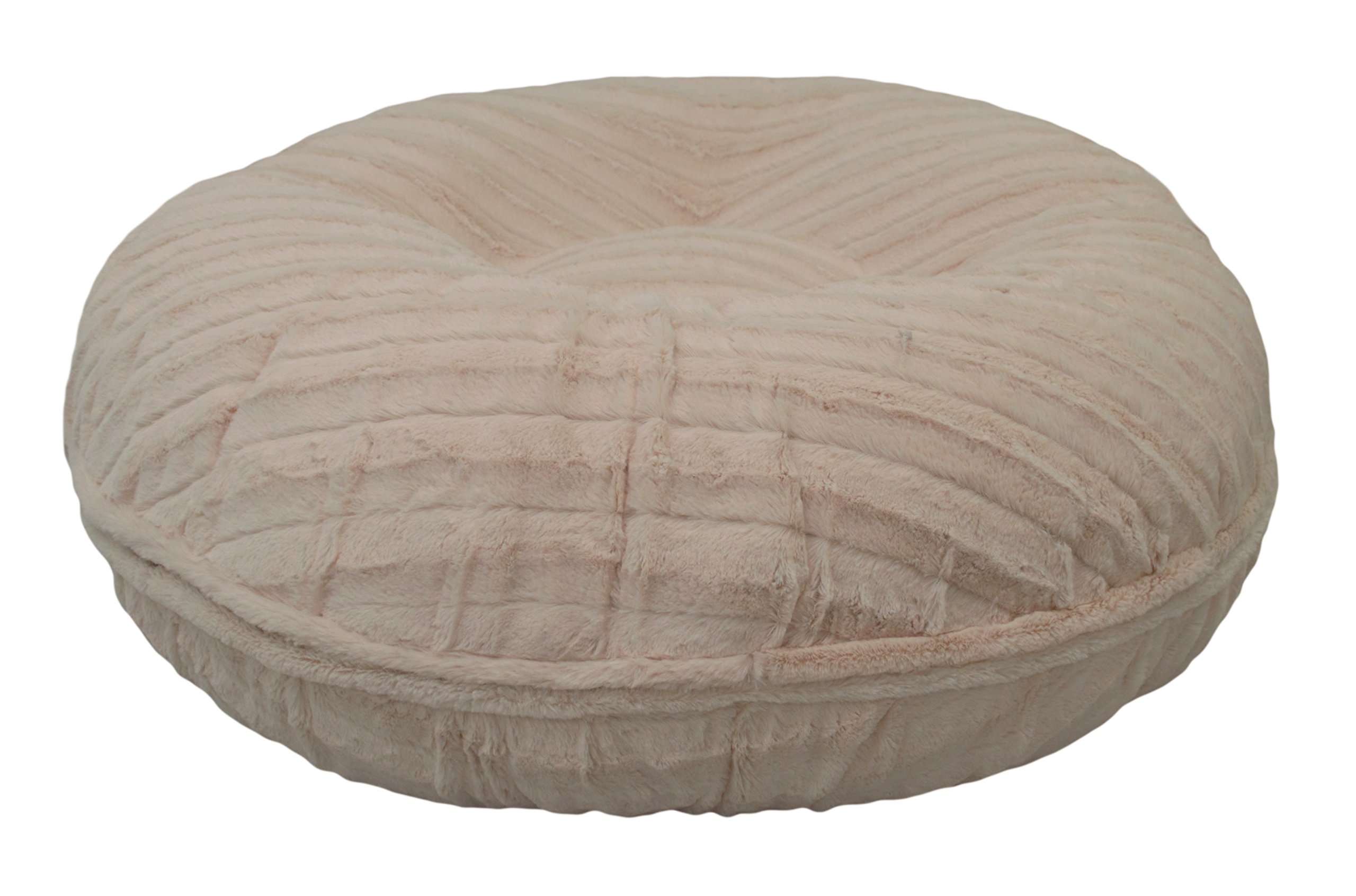 BESSIE AND BARNIE 30-Inch Bagel Bed for Pets, Small, Natural Beauty