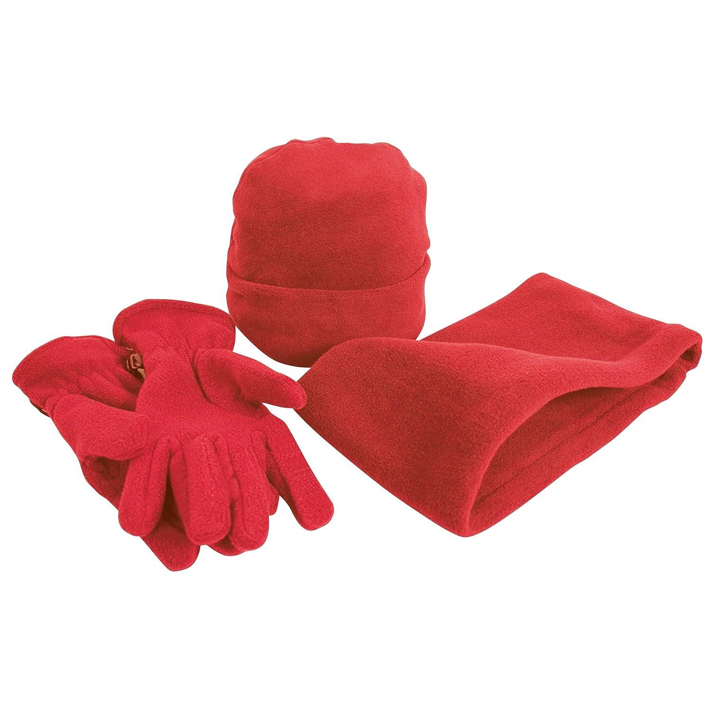Handschuhen und Halsw/ärmer Anti-Pilling Result Unisex Active Fleece Winter-Set mit M/ütze