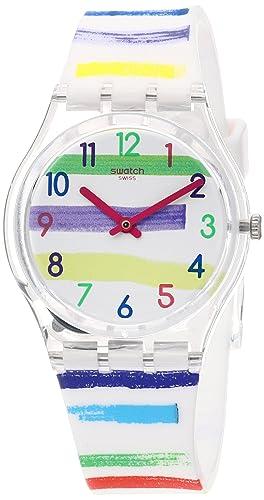 Swatch Reloj Analógico para Mujer de Cuarzo con Correa en Silicona GE254: Amazon.es: Relojes