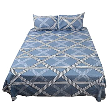 Exceptional Uxcell Bed Sheets Set,100% Cotton 4 Piece Checkered Bedding Sets Fitted  Sheet
