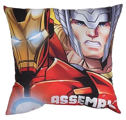 Vamos – 005233 – Cojín Avengers Reversible – Los Personajes Captain America/Hulk/Iron Man/Thor – 40 x 40 cm