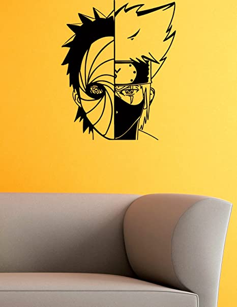 Amazon.com: Kakashi and Obito Mask Vinyl Wall Decals Ninja ...