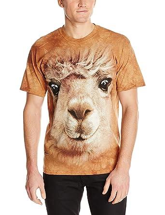 cba712ce The Mountain Unisex Erwachsen Big Face Alpaca Tier T Shirt: Amazon.de:  Bekleidung