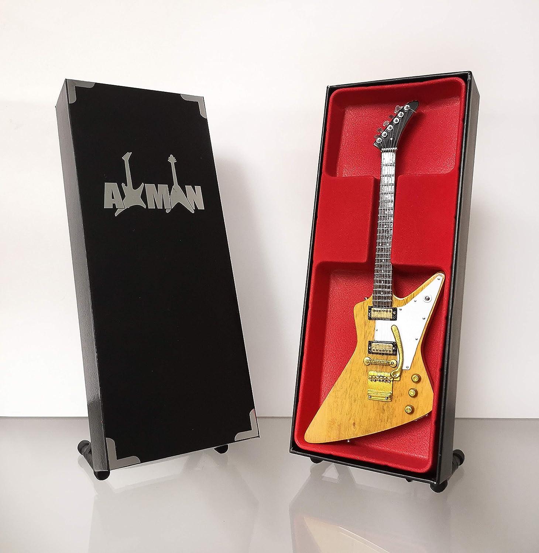Lynyrd Skynyrd Allen Collins vendedor del Reino Unido - Explorer 2003 Korina: r/éplica de guitarra en miniatura