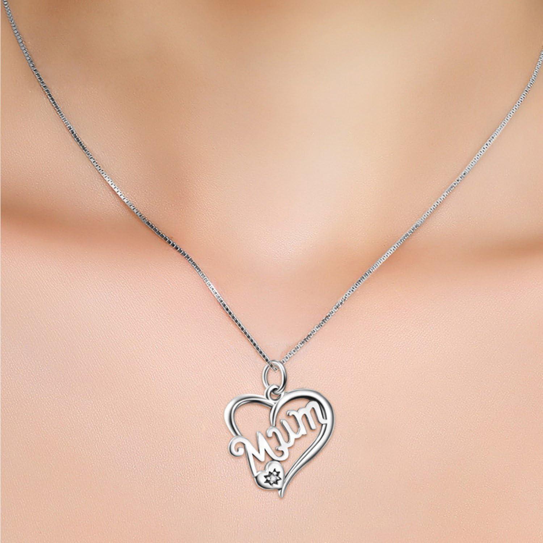 CS-DB Love Heart Crystal CZ Pendants Silver Lucky Cat Jewelry