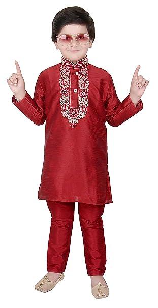 Pijama Kurta de Seda cruda India para niños Eid Bollywood Party Kids Outfit  924  Amazon.es  Ropa y accesorios 6c73f094149