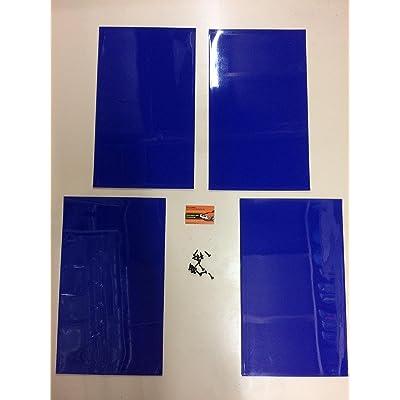 RALLY MUDFLAPS BLUE X4 20'' x 12'' 3MM PVC - MSA RALLY MUDFLAPS: Automotive