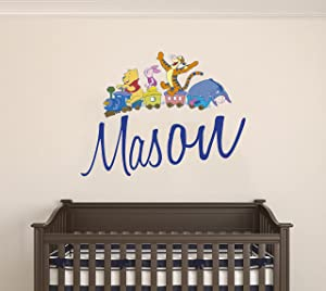"""Winnie The Pooh and Friends Custom Name Wall Decal - Personalized Nursery Name -Wall Decal for Nursery Decoration playroom Decoration (Wide 20""""x16"""" Height Inches)"""