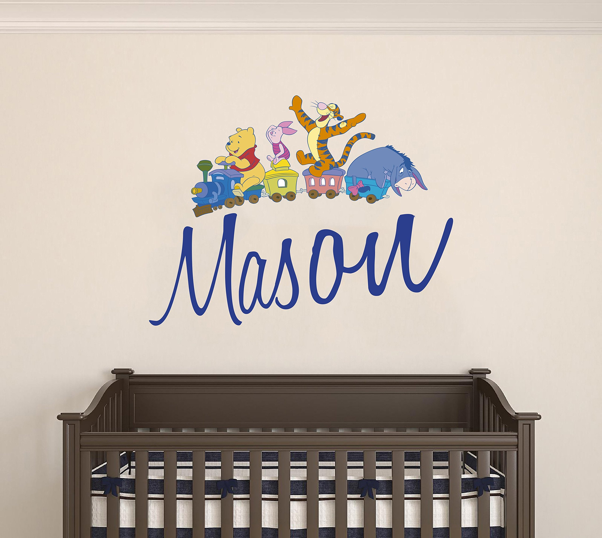 Winnie the Pooh and Friends Custom name wall decal - Personalized Nursery name -Wall Decal For Nursery Decoration playroom decoration (Wide 20''x16'' Height Inches)
