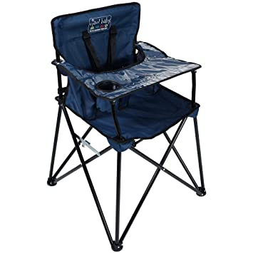 Outstanding Ciao Baby Portable High Chair For Travel Fold Up High Chair With Tray Navy Andrewgaddart Wooden Chair Designs For Living Room Andrewgaddartcom