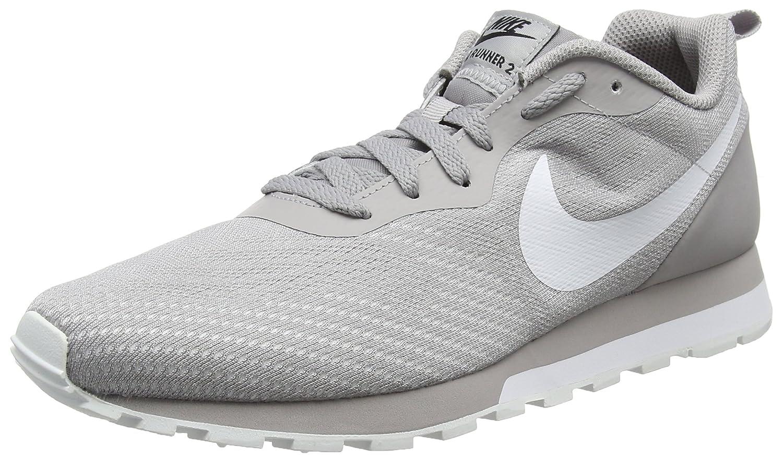Nike MD Runner 2 Eng Mesh, Zapatillas de Running para Hombre 41 EU|Gris (Atmosphere Grey/White-vast Grey-black 006)