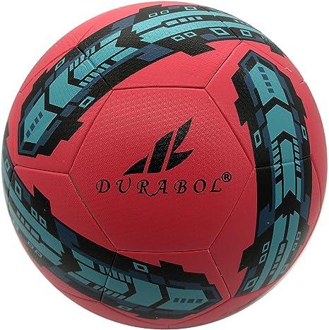 Durabol Balón de Fútbol Entrenamiento Talla 5 (ROJO 2): Amazon.es ...