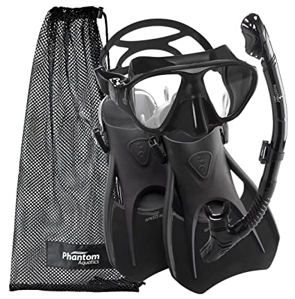 Amazon.com   Cressi Snorkeling Scuba Diving Mask Fins Dry Snorkel ... 0353e092d8
