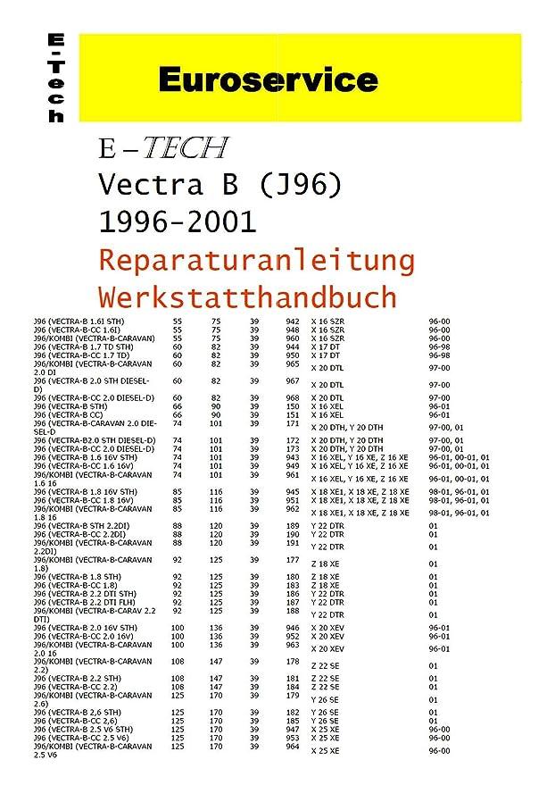 REPARATURANLEITUNG / WERKSTATTHANDBUCH (CD) OPEL VECTRA B: Amazon.de ...