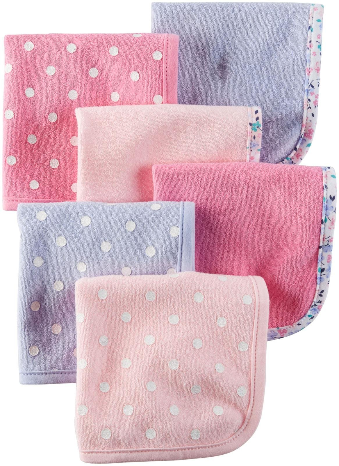 Carter's Terry Washcloth Set - Pink/Light Blue - 6 ct