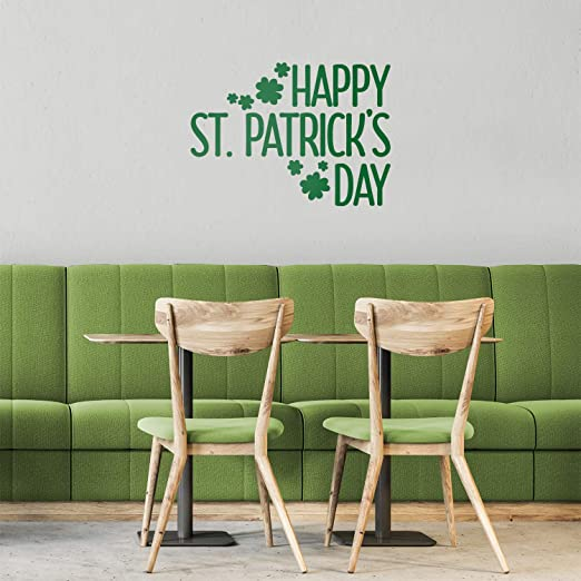 Clovers St Patrick/'s Day Vinyl Decal Wall Stickers Home Decor Art