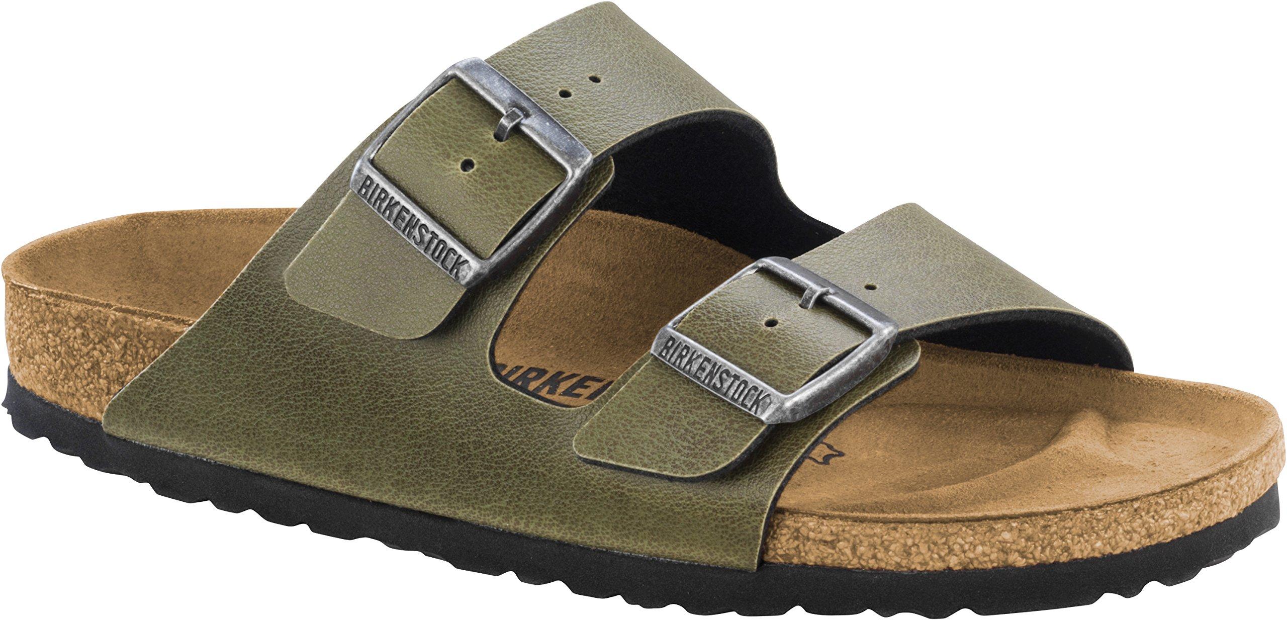 Birkenstock Unisex Arizona Olive Birko-Flor Pull Up Sandal