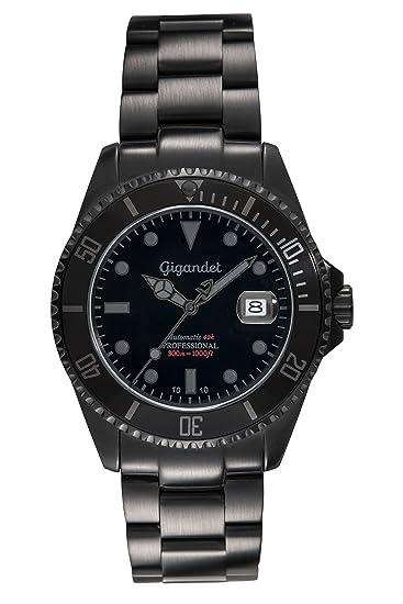 Gigandet Reloj de Hombre Automático Sea Ground Reloj de Buceo Analógico Correa de Acero Negro G2-010: Gigandet: Amazon.es: Relojes