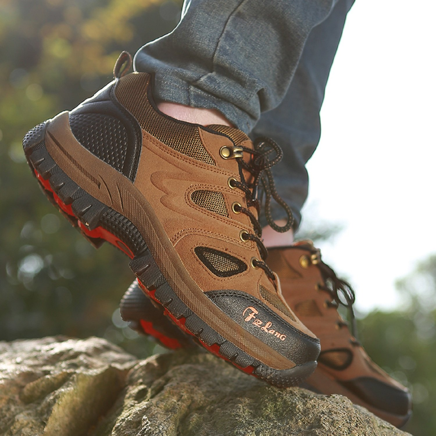 T-Gold 2017 Men's Waterproof Low Hiking Shoe Outdoor Breathable Climing Trekking Sports Summer by T-Gold (Image #6)