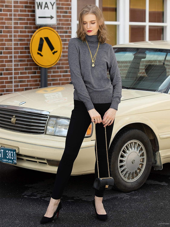 Woolen Bloom Women Jumper Long Sleeve Turtle Neck Top Jumper Pullover Knitwear Sweater