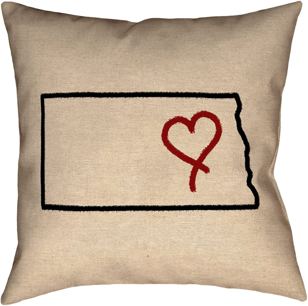 Double Sided Print with Concealed Zipper /& Insert ArtVerse Katelyn Smith Utah Love 26 x 26 Pillow-Faux Linen Updated Fabric