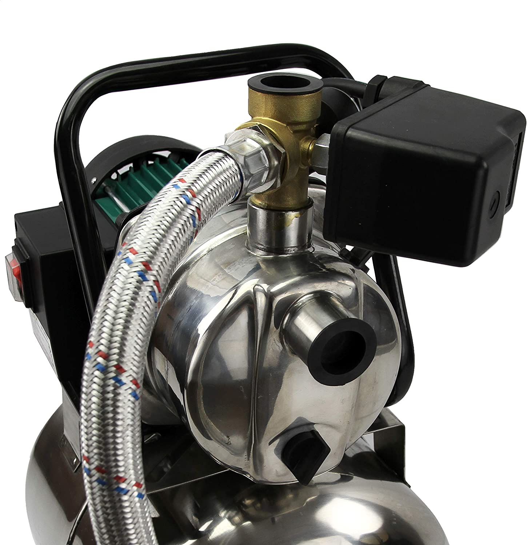 1200 W, Hauteur de refoulement 50 m, Corps en inox , d/ébit 3 800 litres//heure Pompe d/'arrosage de surface avec surpresseur 20 Litres Silex/®