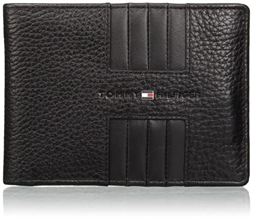 Tommy Hilfiger - Heritage Extra Cc And Coin, Carteras Hombre, Negro (Black)