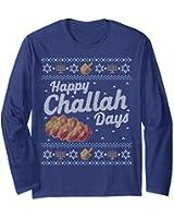Funny Hanukkah Sweater Long Sleeve Shirt Happy Challah Days