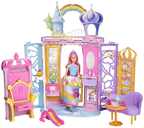 Barbie Dreamtopia, Castillo de arcoiris con muñeca (Mattel FRB15)