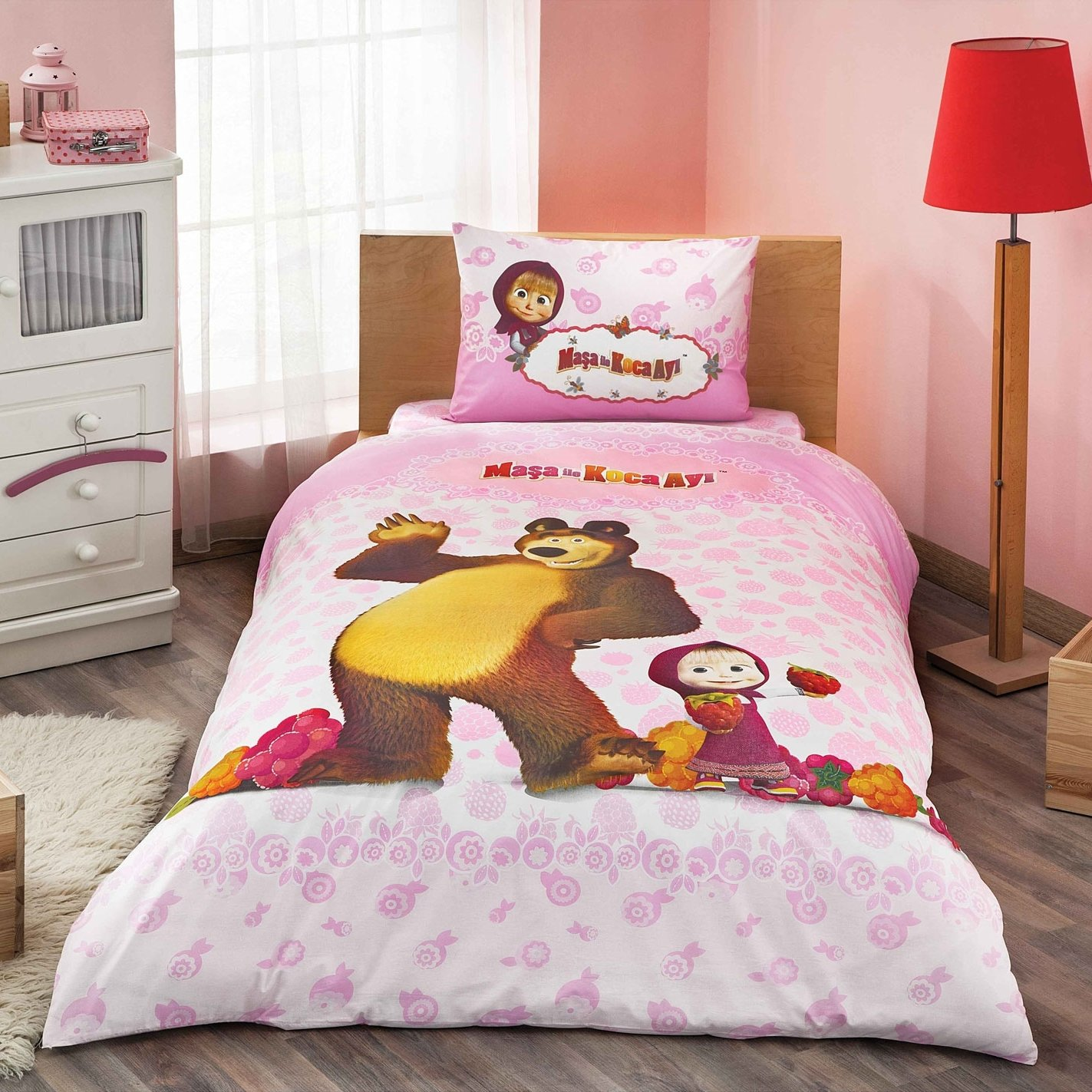 Mascha Und Der Bär Bettwäsche Schlafzimmer Wand Gestalten Grau