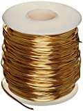 """230 Brass Wire, Unpolished (Mill) Finish, Annealed, Soft Temper, ASTM B134, 0.02"""" Diameter, 3965' Length"""