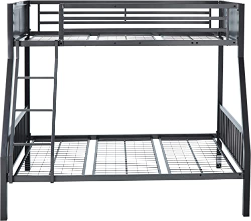 Coaster Home Furnishings Black and Gunmetal Meyers Twin Over Full Metal Bunk Bed
