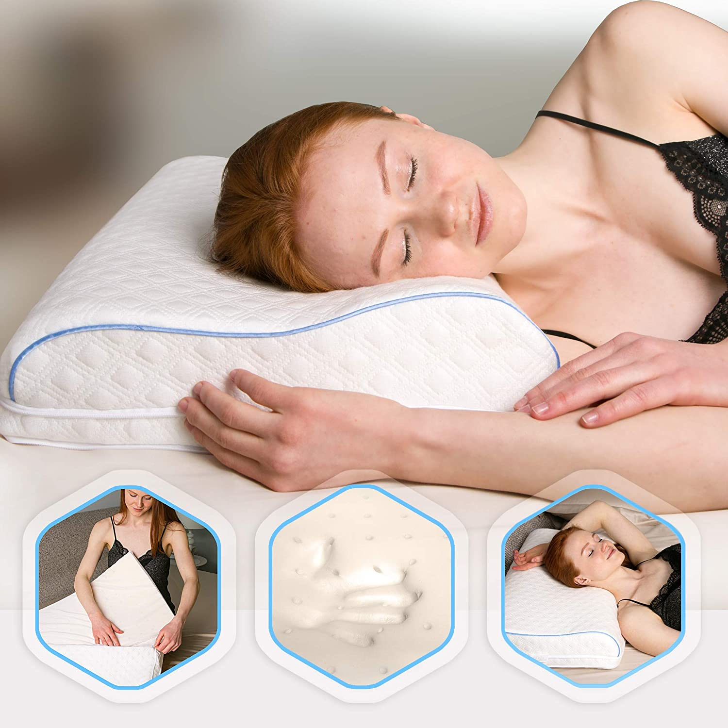 Amazon.com: Aeris Adjustable Memory Foam Contour Pillow For Neck