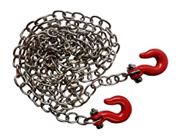 """1/10 RC Rock Crawler 33"""" Scale Metal Chain W/ Hooks - Apex RC Products #4050"""