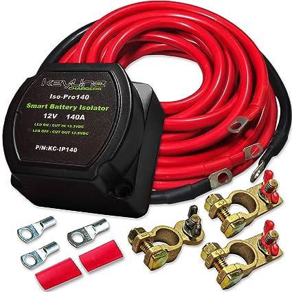 amazon com 140 amp dual battery isolator by keyline chargers iso rh amazon com