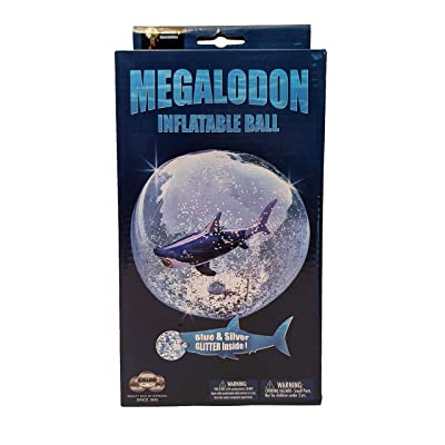 Universal Specialties Megalodon Inflatable Beach Ball Shark Swimming Pool Toy: Toys & Games
