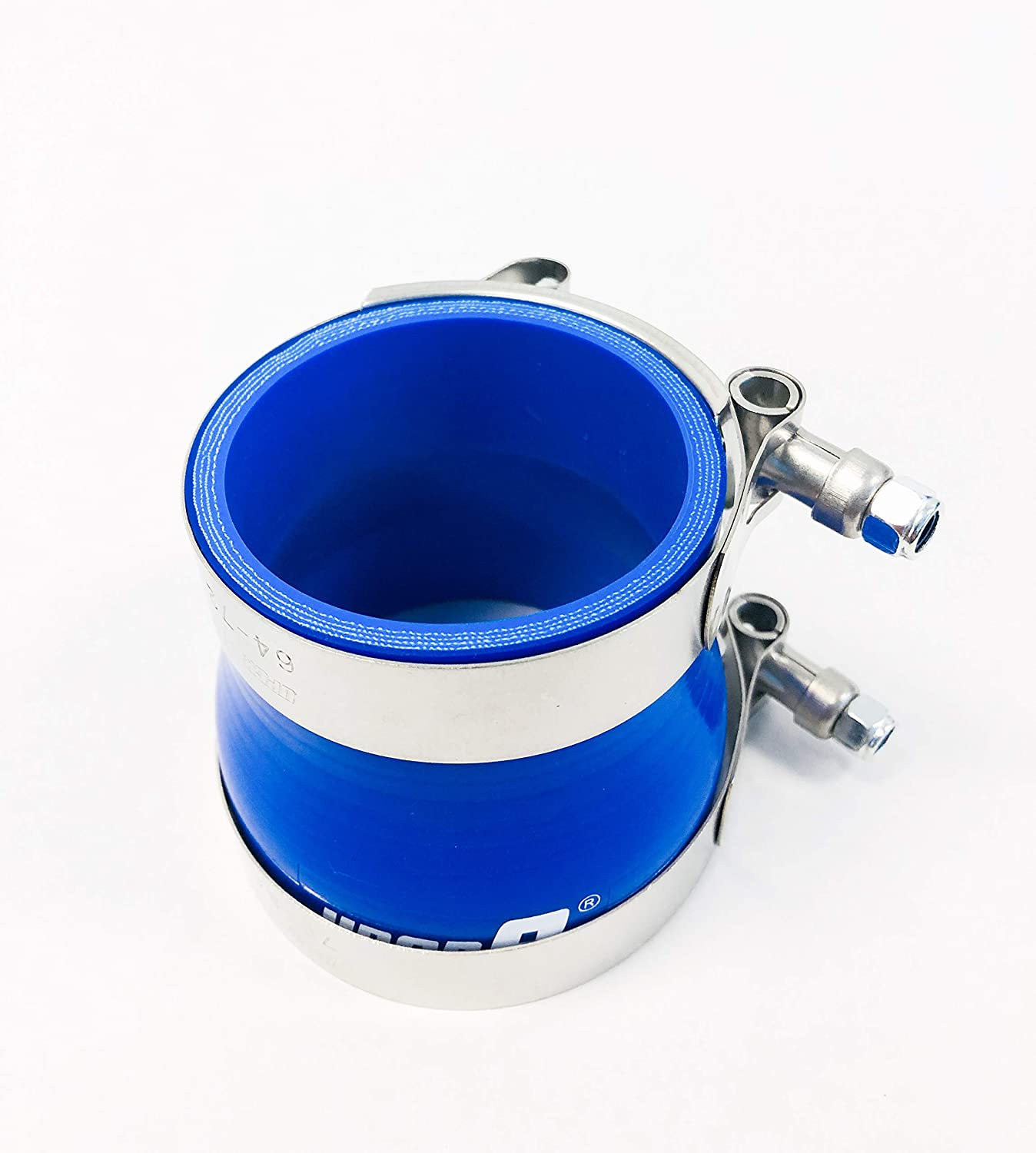 T Bolt Clamp Upgr8 Universal 4-Ply High Performance 3 to 4 Straight Reducer Coupler Silicone Hose 76mm to 102mm 3-4 Blue