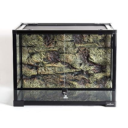 Amazon Com Reptizoo Reptile Glass Terrarium With Foam Backgrounds
