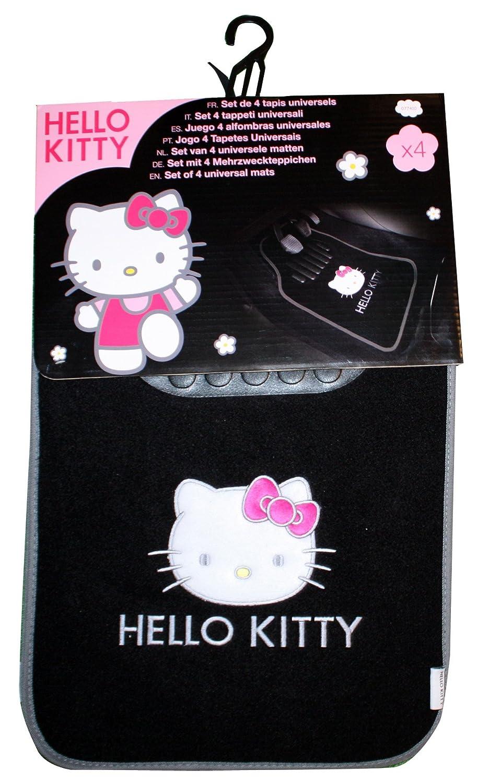 Hello Kitty Juego 4 alfombras de moqueta negra coche: Amazon.es: Coche y moto