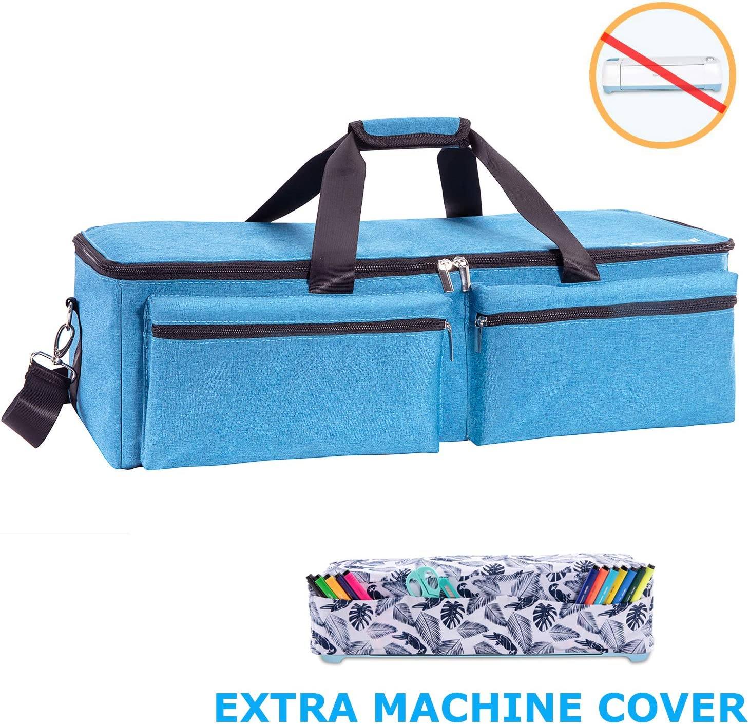 Waterproof Tote Bag Compatible with Cricut Explore Air and Supplies Pink, 1+1 CACTIYE Carrying Bag Compatible with Cricut Explore Air and Maker
